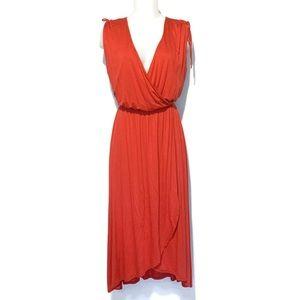 NWT Paprika Rayon Knit Faux Wrap Dress Sz SM